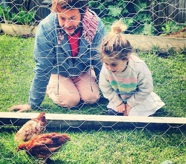 Two new additions to our family…Henny Penny and Chicken Lickin. @damienamos @lovechailovetea